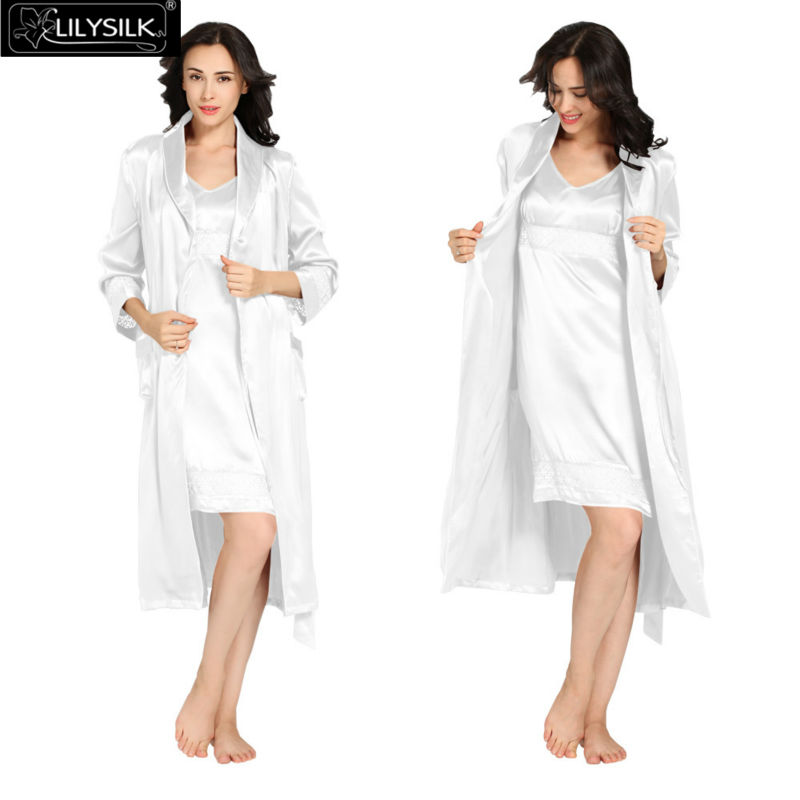 1000-white-22-momme-luxury-lacey-silk-nightgown--dressing-gown-set