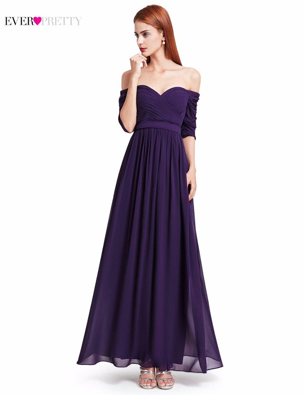Off the Shoulder Long Evening Dress