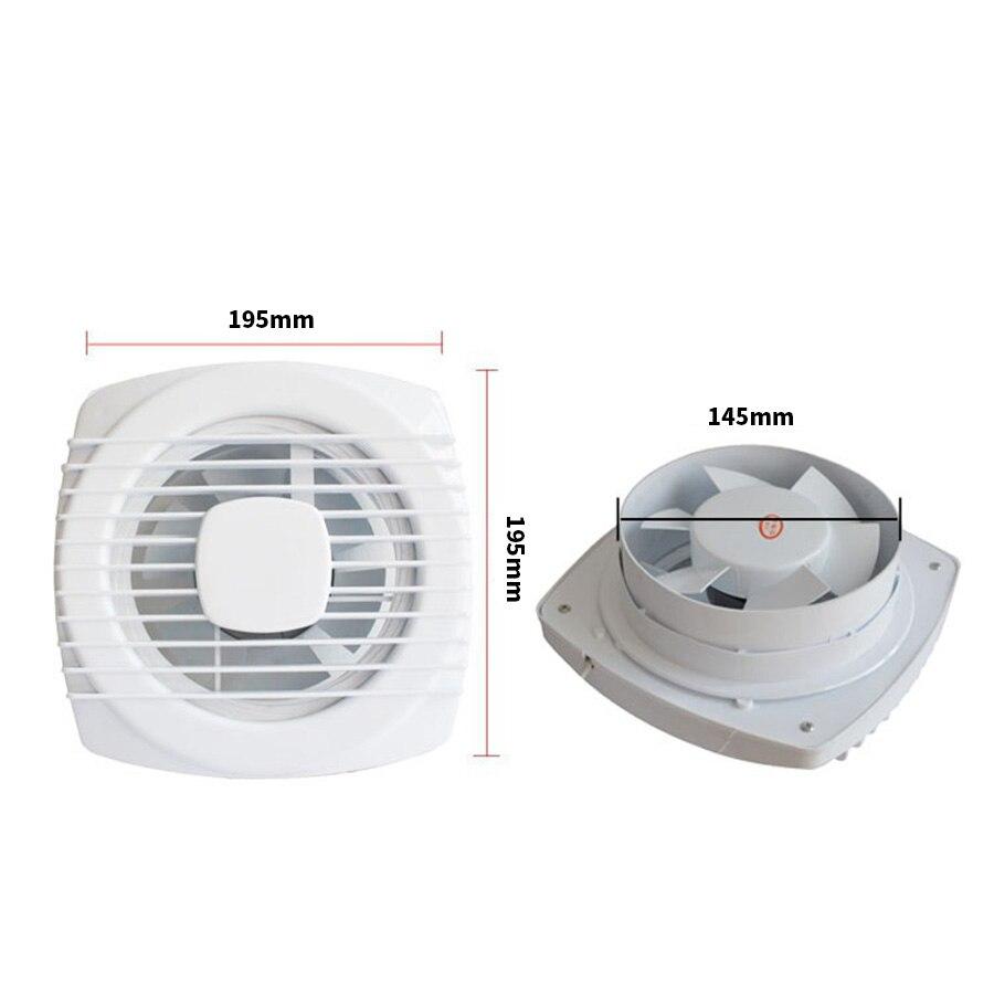 Mini Fan Weiß Abluftventilator Lüftung Gebläse Fenster Wand Mini ...