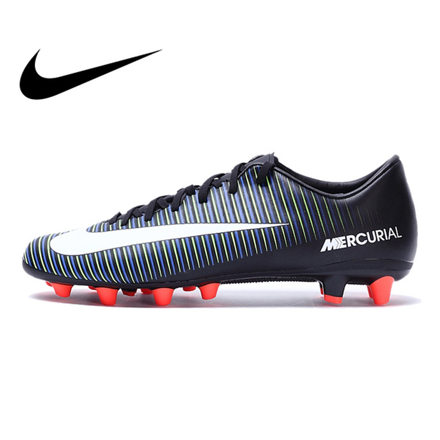 cheap for discount a622d f9401 Original Authentic NIKE MERCURIAL VICTORY VI AG-PRO Men s Light Comfortable  Football Soccer Shoes Sneakers Breathable 831963013