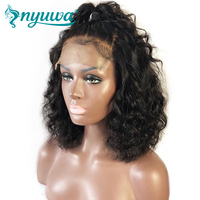 13x6 Lace Front Human Hair Wigs Pre Plucked With Baby Hair Short Curly Lace Front Wigs 150% Density Brazilian Remy NYUWA Wigs