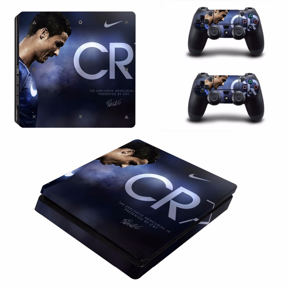 Football cr7 cristiano ronaldo ps4 slim sticker vinly skin for Housse manette ps4