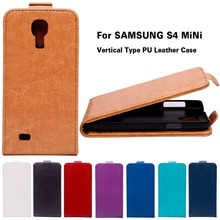 Luxury Retro PU Leather Case For Samsung Galaxy SIV Mini I9190 S4 mini GA009 Cover Vertical Flip Solid Phone Accessories Housing