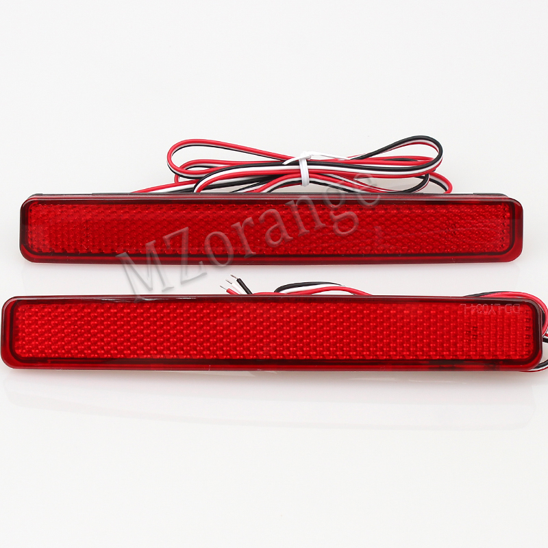 1 Pair For Volkswagen VW T5 Transporter/Caravelle/ 2003-11 Red Rear Bumper Reflector LED Tail Stop Light(CA243)
