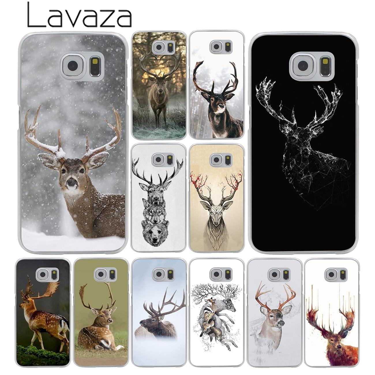 new style c5fcd 8069f Minimalist Animal Deer Minimalistic Animals Hard Phone Samsung Galaxy S8 S9  Plus S3 S4 S5 S6 S7 Edge Cover