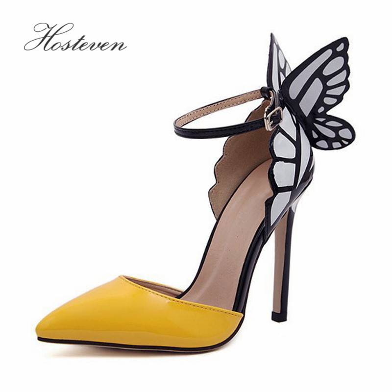 Hosteven Women's Pumps Shoes Wedding Pointed Toe Shoes Woman High Heels 11.5cm Spring Autumn PU Leather Solid Shoes Size 35-41 2017 free shipping siketu spring and autumn women shoes sex high heels shoes wedding shoes pumps g194