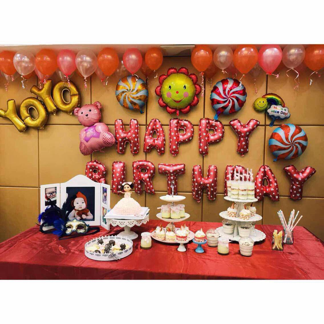 100 wall decoration with balloons chicago balloon decor for Balloon decoration chicago