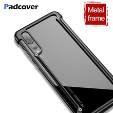 Luxury Airbag Metal Protection Case For Huawei P20 lite Personality Shell for Pro case Slim Bumper cover