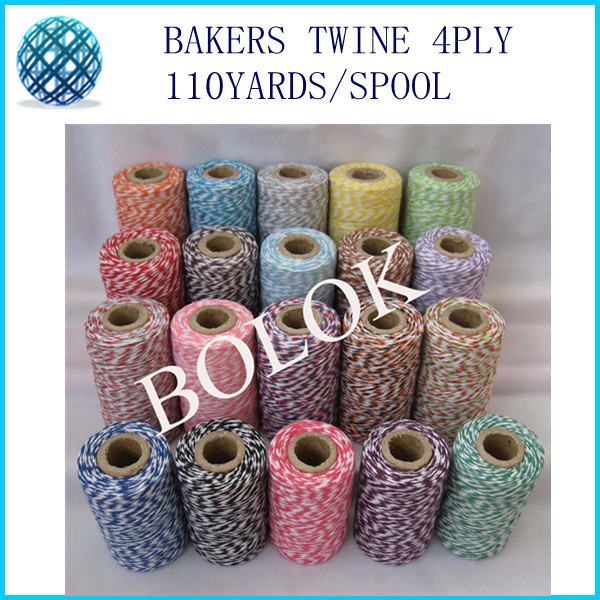 22 féle szín 20db / tétel pamut Bakers zsineg vékony 4 rétegű - Ünnepi és party kellékek