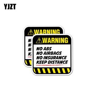 Image 1 - YJZT 2X 8,5 CM * 8,5 CM Gefahr Auto Aufkleber Warnung KEINE ABS AIRBAGS VERSICHERUNG HALTEN ABSTAND Aufkleber 12 1037