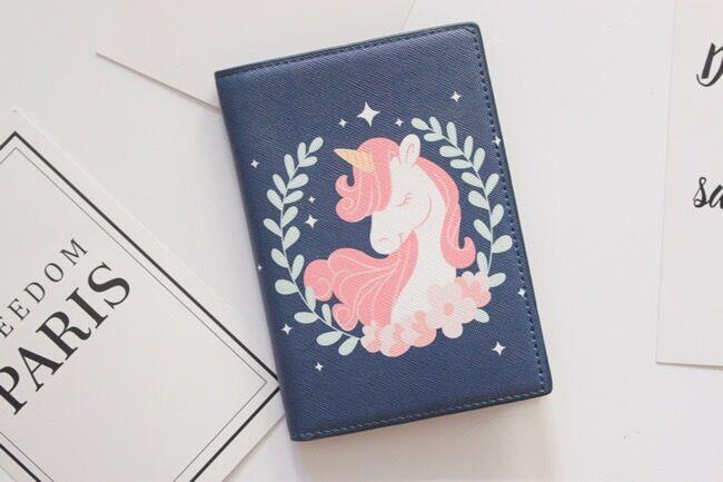 Gili Rainbow Hair Unicorn Travel Wallet Travel Passport /& Document Organizer Zipper