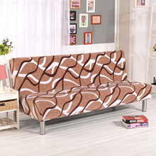 Velvet Bed Sofa Cover All-inclusive Stretch Couch Thicken Plush Without Armrest Folding Set Leather Protect