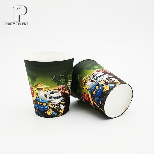 Party supplies 48PCS LEGO Ninjago theme party decoration disposable tableware one-off paper cups cup & Party supplies 48PCS LEGO Ninjago theme party decoration ...