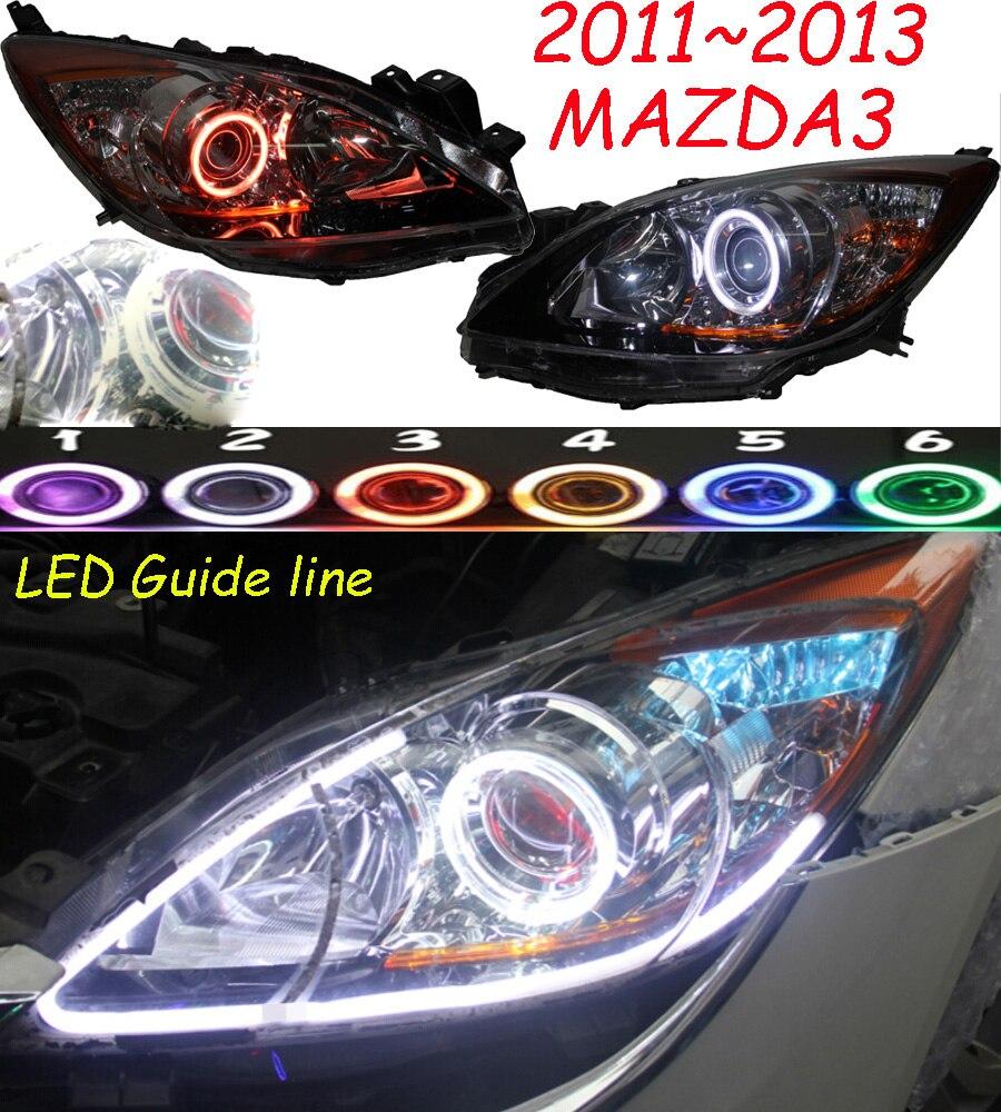 Car Styling for Mazda 3 Mazda3 Headlight HID xenon 2011~2013y car accessories fog for mazda3 headlamp