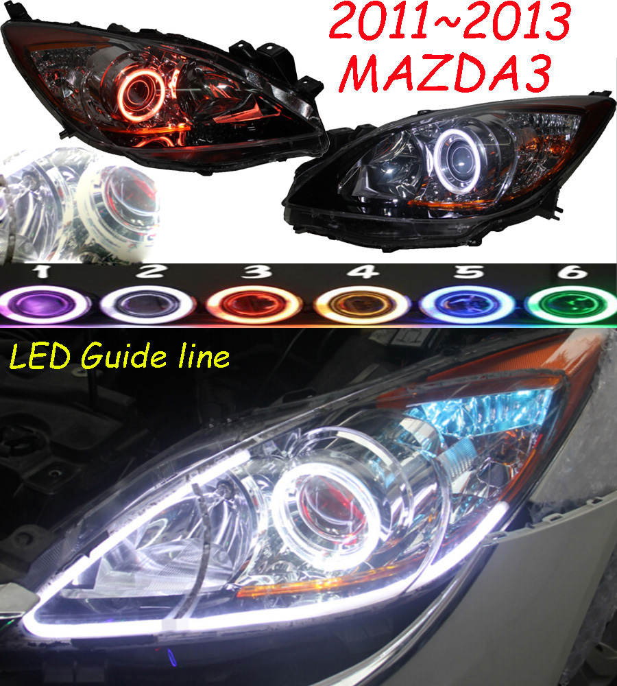 HID,2011~2013,Car Styling for Mazd3 Headlight,Tribute,RX-7,RX-8,Protege,MX-3,Miata,CX-3,CX-5,Navajo,Mazd3 head lamp,3