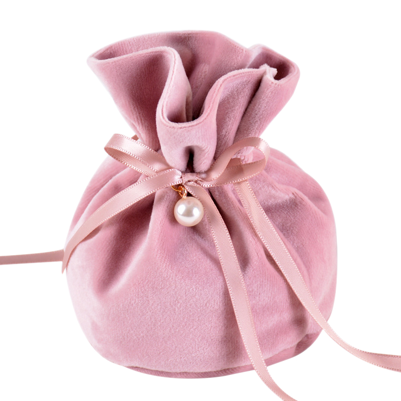12x9Cm Newest Flannel Jewelry Gift Bags Wedding Favors And Candy Gifts Package Bag 20Pcs(China)
