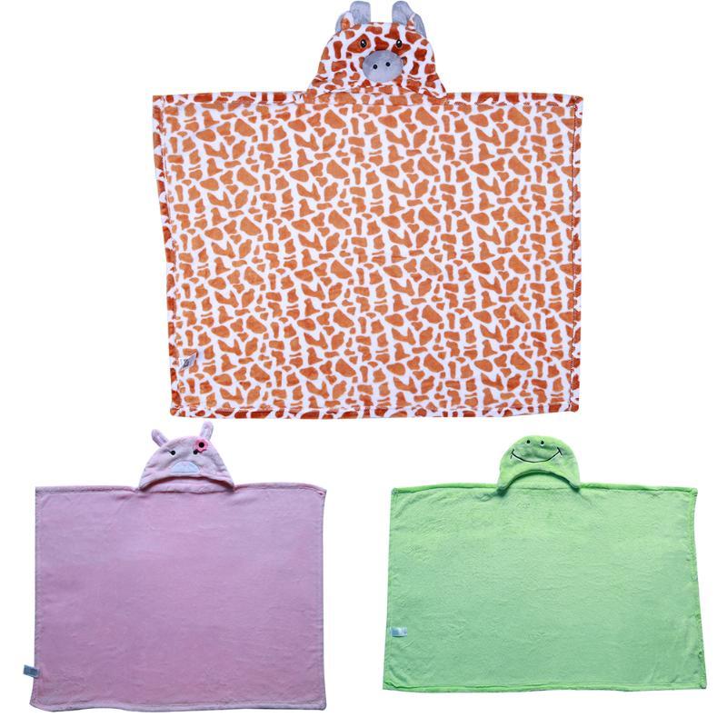 Cute Animals Baby Kid Bathing Towel Cartoon Hooded Bathrobe Cloak Soft Neonatal Blanket Hold Wrap Infant Swaddle Wrap Bath Towel