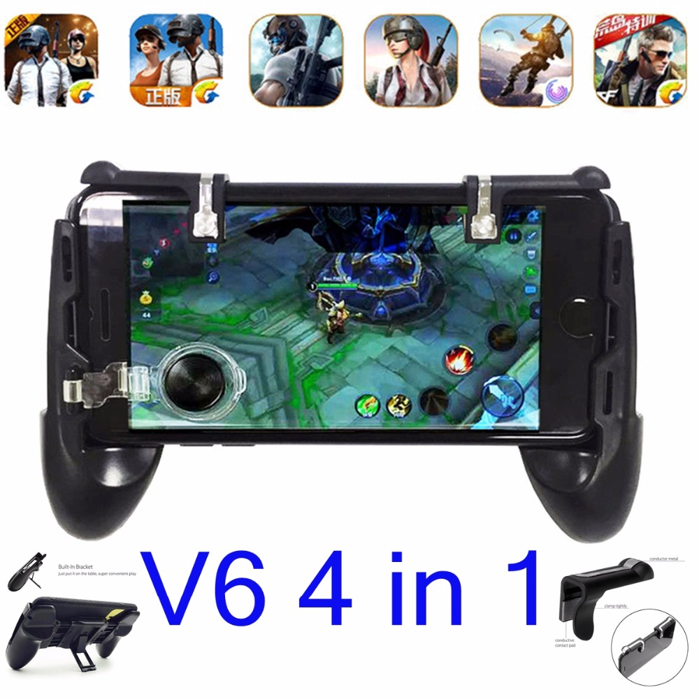 L1 R1 PUBG Mobile Game Gamepad For iPhone ISO Mobile Game Controller Shooter Trigger Fire Button Touch Pad r1l1 Aim Key PUBG V6
