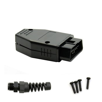 J1962 OBD2 16Pin Male Plug Connector ELM327 Extension Adapter OBD Cable OBDII EOBD 16 Pin OBD 2 Adaptor Opening Female Cable