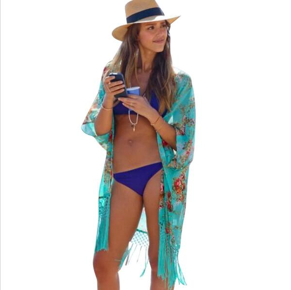 JOYINPARTY <font><b>2015</b></font> Summer Women Fashion Beach Cover Up Ladies <font><b>Sexy</b></font> Swimsuit Bathing Suit Cover Ups Kaftan Kimono Beach Wear image