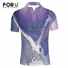FORUDESIGNS Fashion 2017 Men Polos 3D Printed Designs Shirt for Man Clothing Summer Short Sleeve Business&Casual Polo Shirts