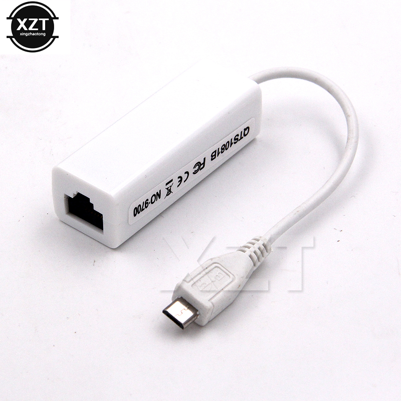 Micro USB 2.0 to Ethernet 10//100M RJ45 Network Lan Card For Tablet PC//Mac Book
