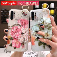 SoCouple-funda de silicona blanda para teléfono móvil Huawei, protector con correa de silicona para Huawei P30 P20 Lite Pro Mate 20 10 Pro 30 Lite Honor 10 Nova 3i 5i pro