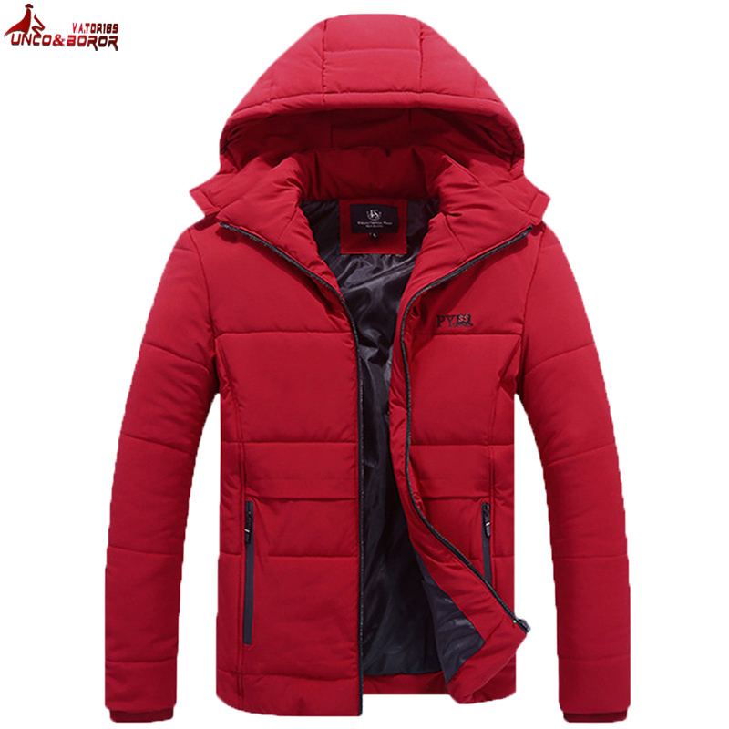 UNCO&BOROR Winter Jacket Men Plus Size 7XL 8XL Cotton-Padded Brand Fashion Parkas Male Jacket And Coat Warm Outerwear Clothing