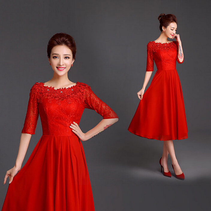 Simple Red Dresses  Pjbb Gown