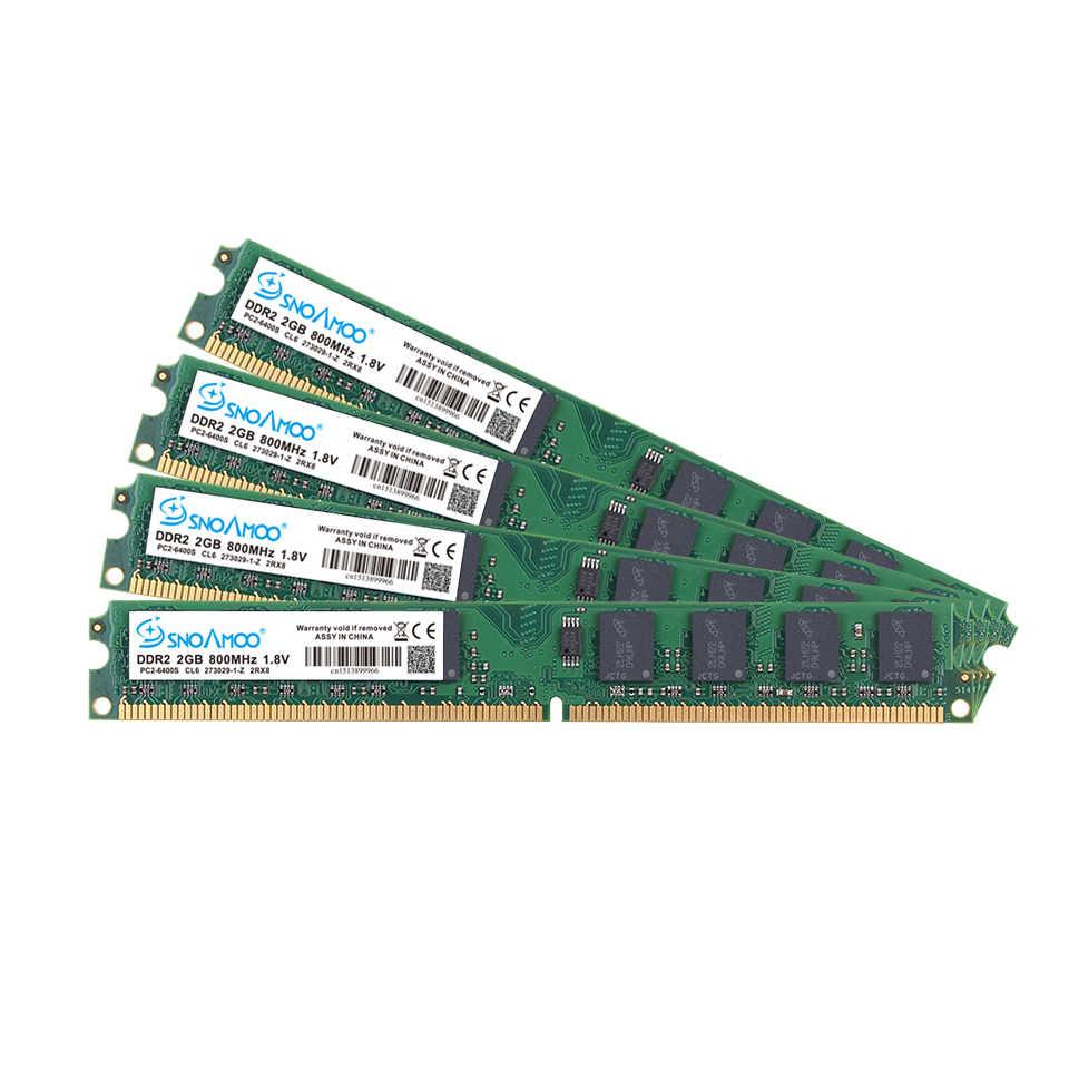 SNOAMOO חדש DDR2 2GB מחשב שולחני זרוע 667Mhz PC2-5300S 240 פין 800MHz PC2-6400S 1GB 4GB DIMM עבור אינטל תואם מחשב זיכרון