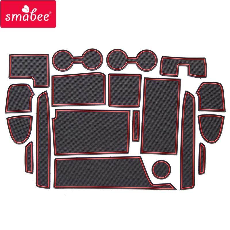smabee For NISSAN SERENA C27 E-POWER 2018 Non-slip Interior Door Pad Cup Mat Door Gate Slot Ma Accessories цена и фото
