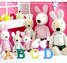 Pernycess 1pcs90cm hooded long-sleeved sweater rabbit models genuine security colors: white   brown