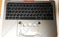 Русская раскладка для Apple Macbook Pro 13,3 retina A1706 2016 2017 серая клавиатура с верхней крышкой серый чехол выглядит новинка