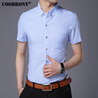 COODRONY Pure Cotton Casual Shirt Men Brand Clothes 2017 Spring Summer New Business Short Sleeve Shirt