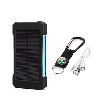 Top Sell Solar Power Bank Waterproof 20000mAh Solar Charger 2 USB Ports External Battery Charger Phone Poverbank with LED Light 8