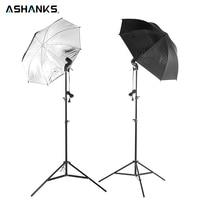 4pcs Free Shipping 83CM Reflective Umbrella Photo Studio 2M Light Stand 2pcs Single Lamp Holder
