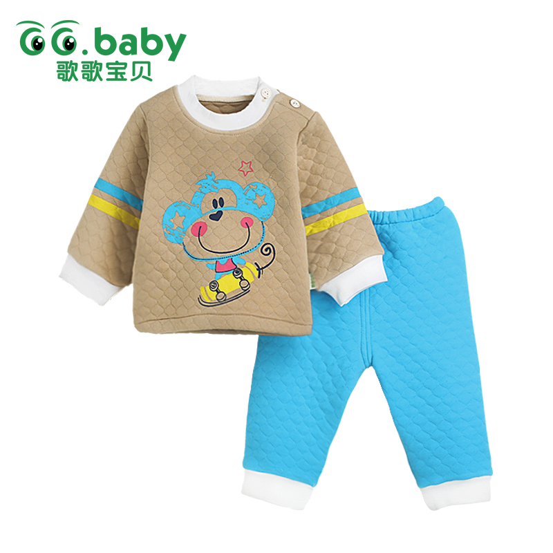 ᐃ0 3 Months Newborn Winter Baby Set Striped Pajamas Set Clothing