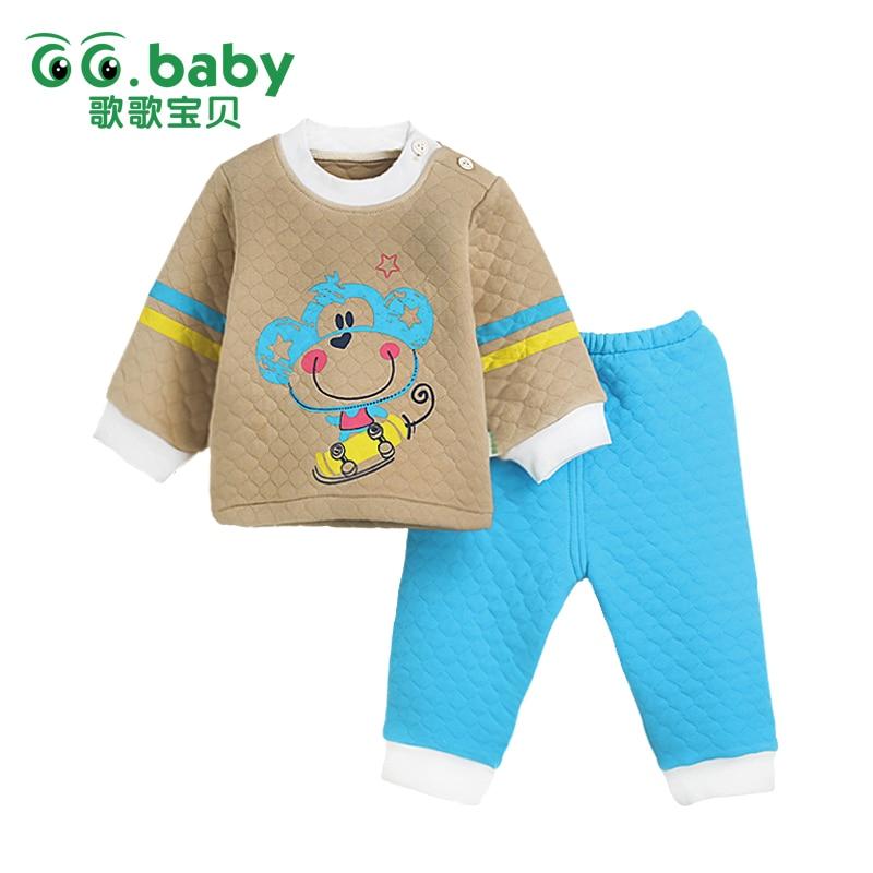 0 3 Months Newborn Winter Baby Seted Pajamas Set Clothing Suit Baby Boy Clothes Set Warm Newborn Boys Clothes Set Infantil