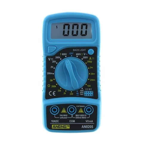 Medidor de Tensão Novo Profissional Multímetro Digital Portátil Multi ac – dc Amperímetro Resistência Tester Luz Branca hr An8205