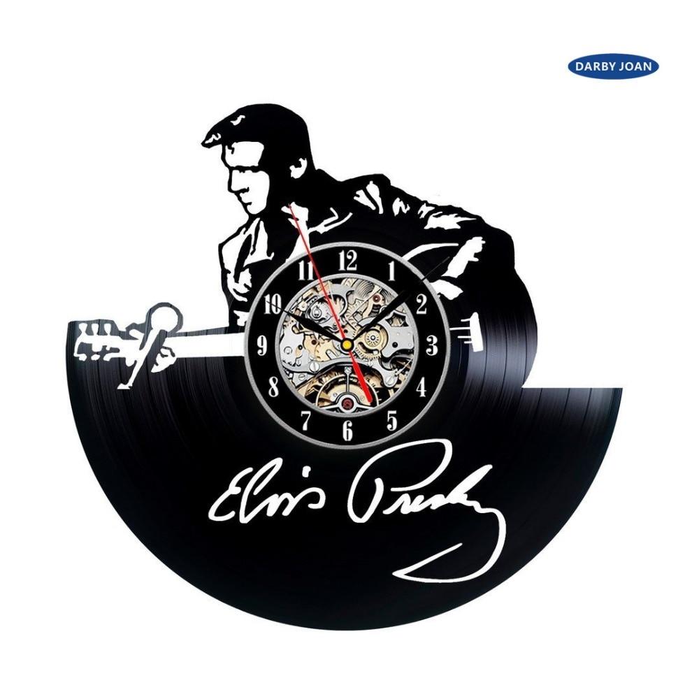 Vinyl Clock Handmade Vintage Large Gift Reloj Saati Duvar Klok Presley Elvis