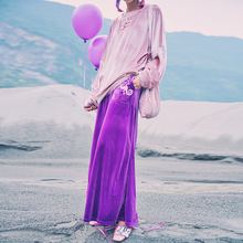 [AIGYPTOS-JWC]High Quality Autumn Women Novelty Personality HARAJUKU Embroidery Casual Loose Velvet Wide Leg Pants Trousers