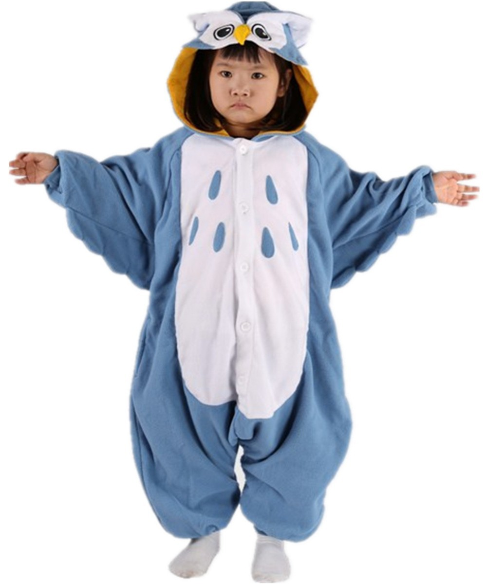 54d9ab109 Detail Feedback Questions about Cute Kids Baby Boys Cosplay Blue Owl  Costume Onesies Pajamas Polar fleece Winter Cartoon Pyjamas Girl Halloween  Christmas ...