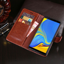 Business Wallet Case For Samsung Galaxy A7 2018 Flip Cover A 7 A750 PU Leather
