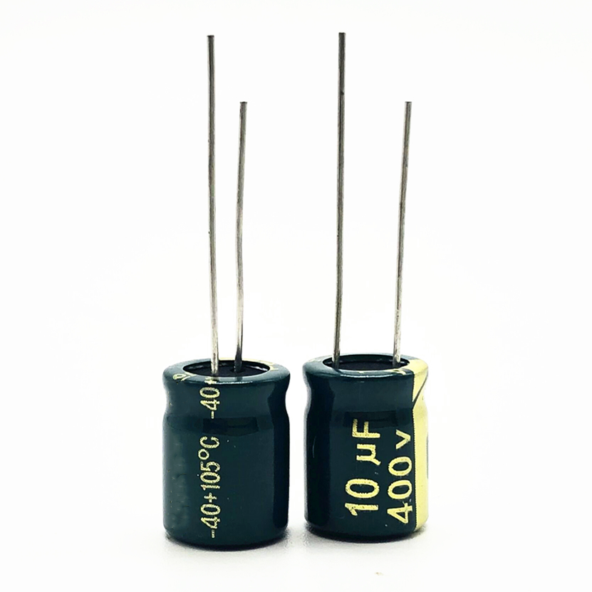 12pcs/lot <font><b>400V</b></font> <font><b>10uf</b></font> high frequency low impedance 20% RADIAL aluminum electrolytic capacitor 10000NF image