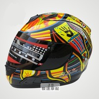 Brand Malushun Motorcycle Helmet Valentino Rossi Helmet Kart Racing Full Face Helmet Men Motociclistas Capacete DOT