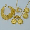 Mustafa Kemal Ataturk Coin set Jóias Cadeia Pingente/Brincos/Anel/Pulseira Banhado A Ouro Eritreia Etiópia Nupcial Do Casamento #001013
