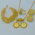 Mustafa Kemal Ataturk Coin set Jewelry Pendant Chain/Earrings/Ring/Bracelet Gold Plated Ethiopia Bridal Wedding Eritrea #001013