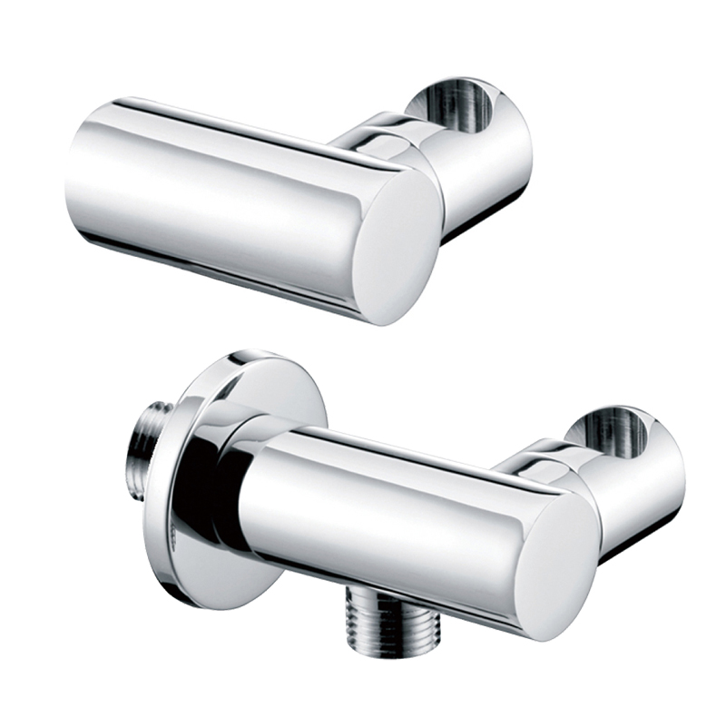Brass Chrome Wall Mounted Hand Shower Head Holder Bracket Shower Support Rack With Hose Connector Shower Fittings