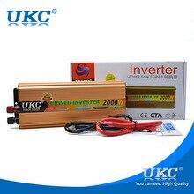Convertidor de alta potencia 12 v a 220 v, 2000 w mejorada con carga USB hogar inversor inversor automotriz