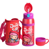 520ML Creative Kids Vacuum Thermos Bottle With Lid And Straw Student Portable Insulated Cup For Hot Water Thermo Mug Thermocup
